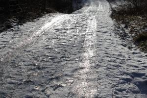 min isiga promenadväg i skogen