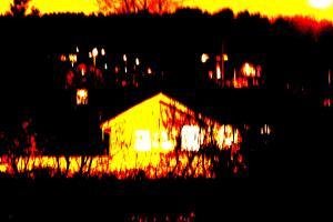 husen lyser i adventsmörkret
